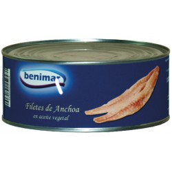 Filete de Anchoa Benimar lata 475 G